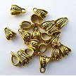 Gold Fancy Dotted Jewelry Bails, Pewter (20)