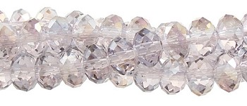 Crystal Beads, 12mm Rondelle LIGHT AMETHYST AB