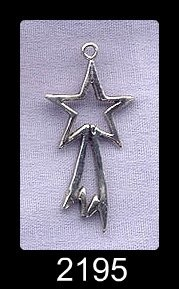 Sterling Silver Shooting Star Pendant, Comet Jewelry, Star Necklace