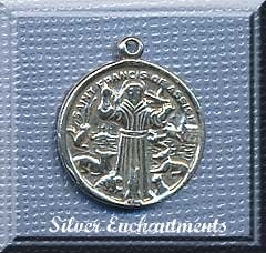 Sterling Silver Saint Francis of Assisi Medal