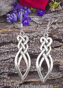 Sterling Silver Celtic Knot Earrings, Celtic Love Knot Earrings