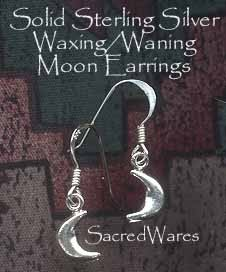 Sterling Siver Crescent Moon Earrings