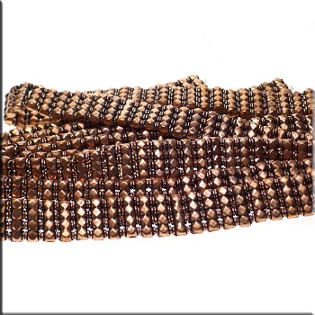 Genuine Copper 4-Strand Jewelry Separators with Diamond Detailing (54) Wholesale Bulk