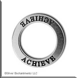 Sterling Silver ACHIEVE Affirmation Charm