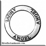 Sterling Silver ANGEL Affirmation Charm