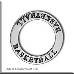 Sterling Silver BASKETBALL Charm, Affirmation Ring