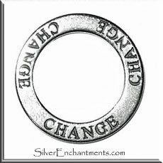 Sterling Silver CHANGE Affirmation Charm