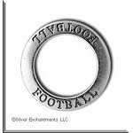 Sterling Silver FOOTBALL Affirmation Charm