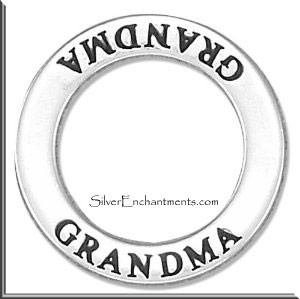 Grandma Affirmation Ring Necklace Charm