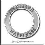 ZSOLDOUT / Sterling Silver HAPPINESS Affirmation Charm
