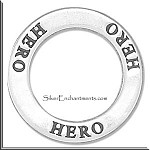 Sterling Silver HERO Charm, Hero Affirmation Charm Necklace