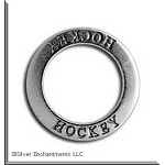Sterling Silver HOCKEY Affirmation Charm