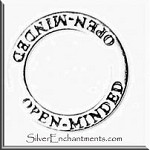 Sterling Silver OPEN MINDED Affirmation Charm