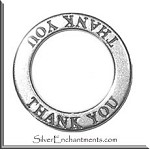 Sterling Silver THANK YOU Affirmation Charm