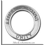 Sterling Silver UNITY Affirmation Charm