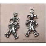 Silver Clown Earrings, Joker Earrings
