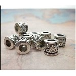 Fancy Drum Spacer Beads, Big Hole European Style Beads (10)