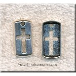 Silver Cross Shield Necklace