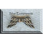 Silver Pewter Angel Wing Beads 20mm 20 per bag