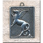 Large Gryphon Necklace, Griffin Necklace