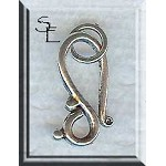 J-Hook Clasps with Rings, Antique Silver (10)