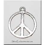Peace Sign Necklace 18mm