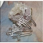 Cross Jewelry Connectors, Antique Silver (10)