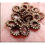 ZSOLDOUT / Copper Pewter Large Hole Spacer Beads 20 per bag