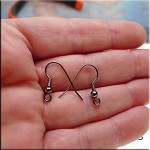 Gunmetal Ear Wires with Ball and Coil 20 per bag
