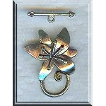 Silver Pewter Flower Toggle Clasps 6 per bag