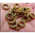 ZSOLDOUT / Gold Pewter Large Hole Spacer Beads 20 per bag