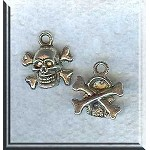 Skull and Crossbones Charm Pirate Skull and Bones Charm