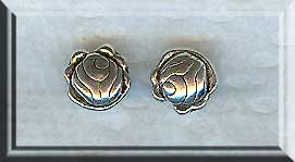 Silver Double Sided Rose Coin Bead 8mm Pewter Flower Bead (1)