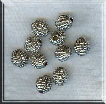 Olive Barrel Bead Grenade Bead 7x8x8mm (1)