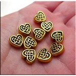 SOLDOUT - Celtic Heart Bead Antique Gold 9mm (1)
