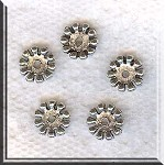 10mm Daisy Spacers, Antique Silver (30)