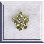 Silver Beader Bailed Butterfly Charm 10x9mm Small Butterflies (1)
