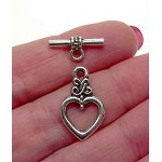Celtic Heart Toggle Clasps (10)