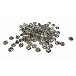 4mm Daisy Spacers, Antiqued Silver Jewelry Spacer Beads (100)