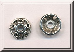 9.5mm Pierced Bead Cap with Circle Details