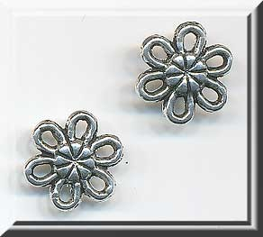 15 Silver Pewter Daisy Jewelry Connectors 10mm