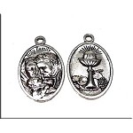 Holy Family Communion Medallions, Antique Silver (10)