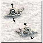 Snail Beads, Double Sided Small Snail Beads (20)