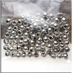 Silver Plated 3mm Ball Beads (100)