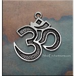 Om Necklace, Everyday Silver Meditation Jewelry