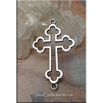 Cross Connector Pendants, Antique Silver Cross Jewelry Findings (10)