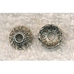 Silver Pewter Fancy Dome Bead Caps 11mm 20 per bag