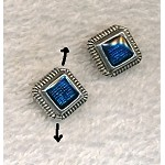 Blue Enameled 12mm Diamond Beads (10)