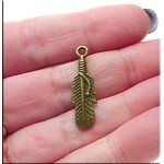 SOLDOUT - Brass Double Sided Feather Charm