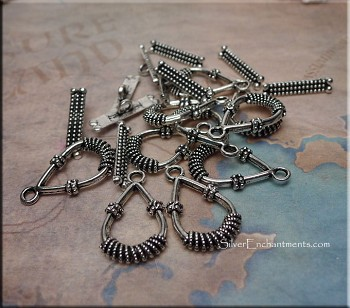 Fancy Teardrop Toggle Clasps - 10-sets